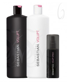 Kit Sebastian Volupt Shampoo 1l + Conditioner 1l + Spray 150ml