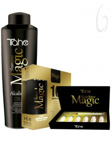 Kit Tahe Magic Shampoo Alcalino + Treatment Bx 6 Vials + Shampoo e Masque