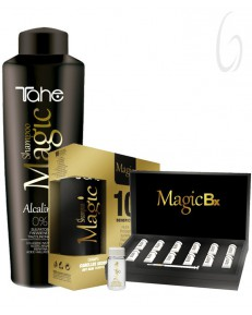 Kit Tahe Magic Shampoo Alcalino + Treatment Bx 12 Vials + Shampoo e Masque